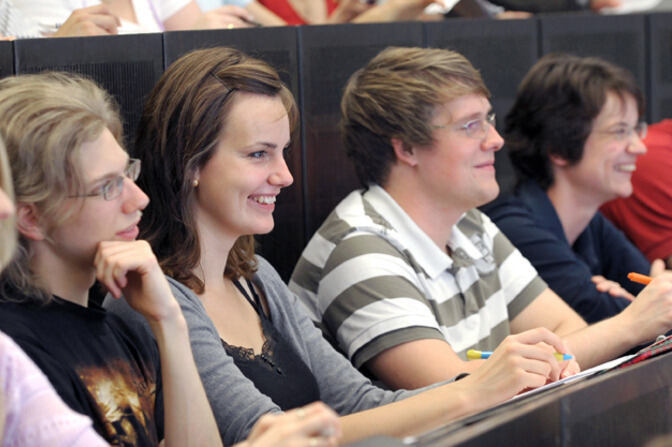 Students in the lecture hall