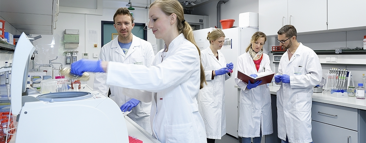 Researchers in the Lab